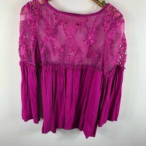 💕Violet floral Tobi long sleeve blouse 💕